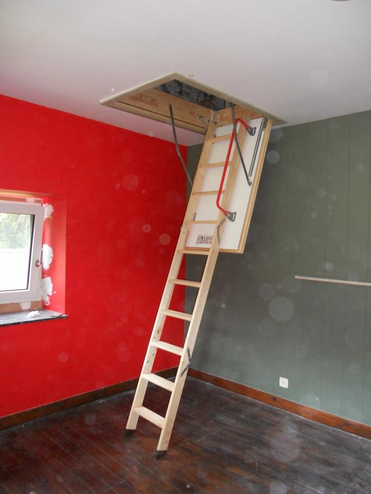 placement d 39 un escalier escamotable isol jean louis cornez. Black Bedroom Furniture Sets. Home Design Ideas