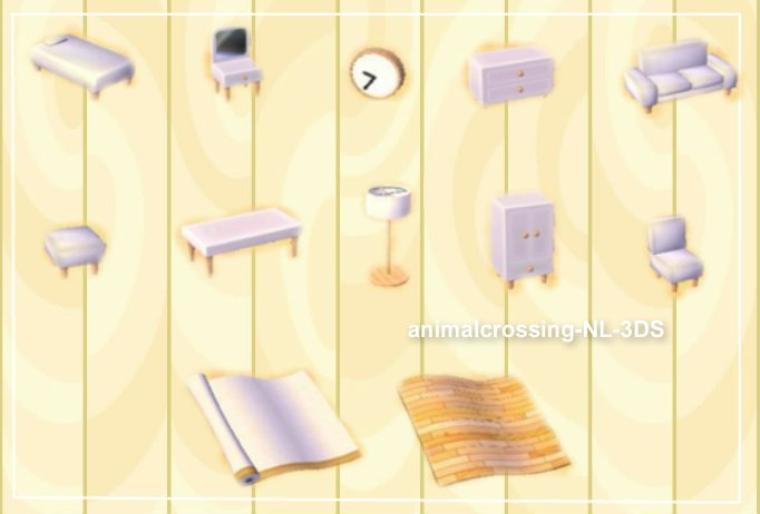 les collections in dites bienvenue sur le blog animalcrossing nl 3ds. Black Bedroom Furniture Sets. Home Design Ideas