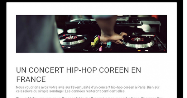 UN CONCERT HIP-HOP COREEN EN FRANCE